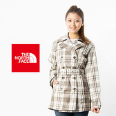 THE NORTH FACE HV 防水風衣外套  ─A3GUCQ8灰咖啡格紋