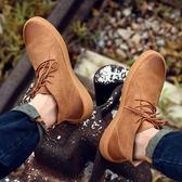 馬丁靴男中幫短靴黑色大碼冬季男鞋工裝軍靴雪地靴秋季新款擦色潮