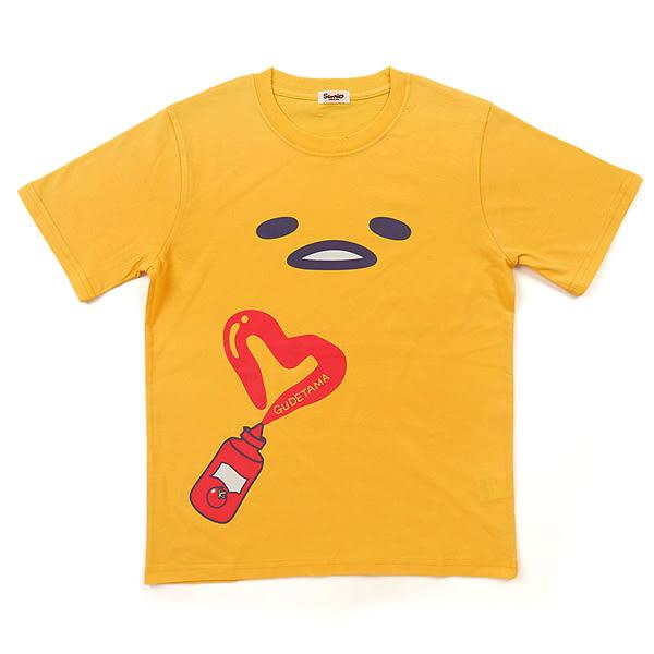 蛋黃哥T袖 短袖畫愛心造型棉T(FREE SIZE)/T袖/短袖T恤 [喜愛屋]