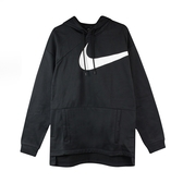 NIKE THERMA 大LOGO 黑色 白勾 帽T 刷毛 保暖 大口袋 AJ9264-010 -SPEEDKOBE-