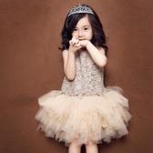 童裝2020女童夏裝洋裝禮服寶寶蓬蓬公主裙兒童蕾絲鏤空背心紗裙 滿天星
