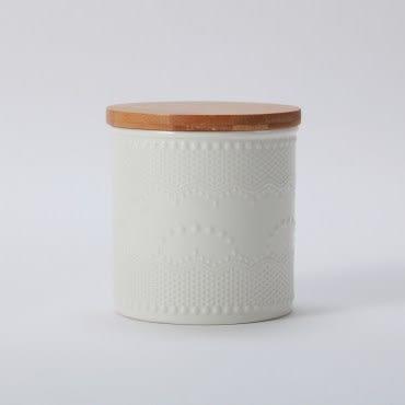 典雅蕾絲紋密封罐-650ml