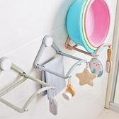 浴室用品 強力無痕回彈式臉盆收納架 收納用品 廚房 毛巾 雜物收納 置物架     【ZRV077】-收納女王