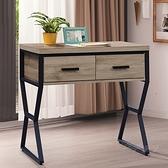 【水晶晶家具/傢俱首選】CX1443-5 可斯3尺雙抽書桌