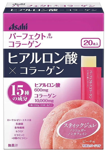 日本進口 ASAHI 玻尿酸+膠原蛋白果凍 蜜桃口味 10gx20包