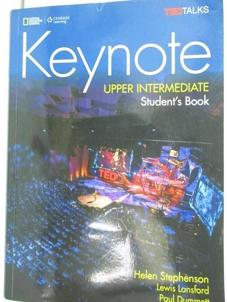 【書寶二手書T1/大學教育_DPV】Keynote, Upper Intermediate Level + Dvd-rom_Dummett
