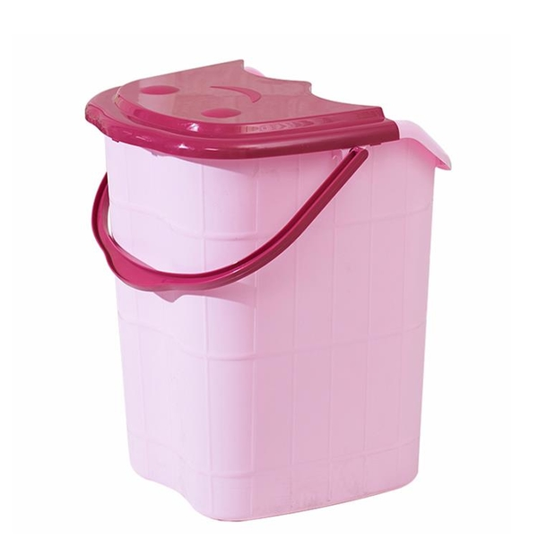 家用泡腳桶過小腿塑料加大高深桶按摩洗腳盆帶蓋保溫過膝蓋足浴桶 「青木鋪子」