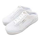 【海外限定】Puma 穆勒鞋 Cali Mule Wns 全白 白 小白鞋 皮革 懶人鞋 懶人拖 女鞋 【ACS】 37183601
