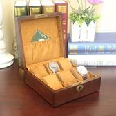 歐式高檔複古木質手錶盒子六只錶位裝手錶展示盒首飾手鍊盒收納盒