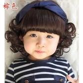 假髮 兒童假髮 女孩假髮造型女寶寶長髮女童短捲髮公主嬰兒假髮帽 韓菲兒