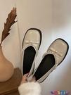 懶人鞋 鞋子女2021新款復古法式單鞋一腳蹬懶人小皮鞋百搭休閒珍珠豆豆鞋 寶貝計畫