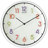 CASIO 手錶專賣店 SEIKO 精工 掛鐘專賣店 QXA447H 滑動式秒針 Candy Color立體數字指針掛鐘