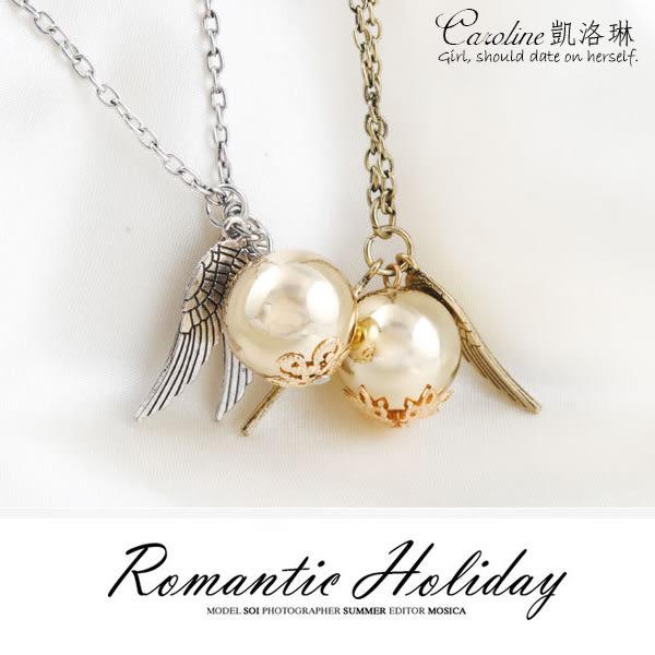 《Caroline》★【愛之羽】浪漫風格時尚.情人節禮物.情人項鍊/一對售價/68330