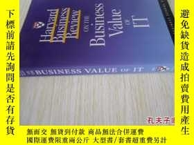 二手書博民逛書店英文原版罕見Harvard Business Review on the Business Value of It