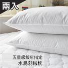 枕頭 / 日系天然水鳥羽絨枕(2入)【膨鬆、吸濕、無異味】台灣製
