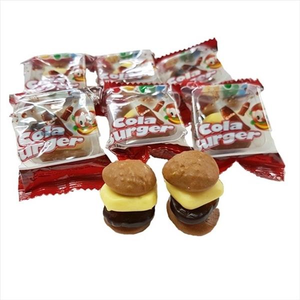 Yupi呦皮 漢堡QQ糖(漢堡軟糖)-可樂風味486g【2019070400018】(印尼糖果)