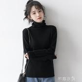 秋冬新款柔軟舒適超薄針織衫黑色高領打底衫內搭長袖上衣 交換禮物