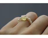 【喨喨飾品】珍珠戒指。黃S441