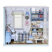 【WT16122125】 手製DIY小屋 手工拼裝房屋模型建築 含展示盒-陽光滿溢
