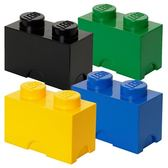 【 樂高積木 LEGO 】經典方塊二置物盒 ( 四色可選 )╭★ JOYBUS玩具