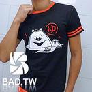 奢華壞男《溫泉熊限量款 - 超舒適彈性合身剪裁T恤 (黑底紅領) 》【M / L / XL / 2L / 3L】