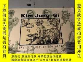 二手書博民逛書店韓國金政基漫畫手稿:Kim罕見Jung-Gi (Sketch C