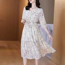 中老年媽媽洋裝~大碼洋裝連身裙~1018 減齡輕熟連身裙中長裙潮M5F-E076/077 胖妞衣櫥