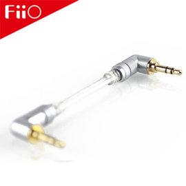 【風雅小舖】【FiiO L17 3.5mm 雙L接頭發燒對錄線】無氧銅鍍銀音源線 MP3隨身聽音源線/發燒線