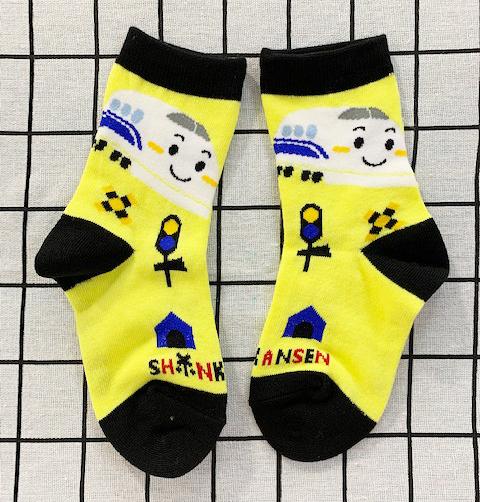 【震撼精品百貨】Shin Kan Sen 新幹線~三麗鷗新幹線兒童用襪子(14~19CM)-黃#04522