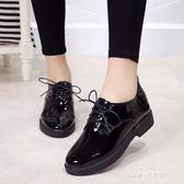 夏季黑色ins小皮鞋女春季新款學生韓版原宿百搭英倫復古單鞋  朵拉朵衣櫥
