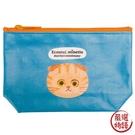 【日本製】【ECOUTE!】貓咪系列 貓臉化妝包 收納包 S尺寸 折耳虎斑貓圖案 SD-3958 - ecoute!