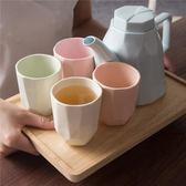 簡約陶瓷冷水壺家用耐熱茶壺茶具水具套裝創意涼水壺杯具帶托盤  居家物語