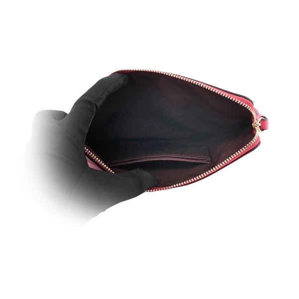 【COACH】馬車Logo防刮皮革大款手拿包(桃粉色) 3888 IMFUS