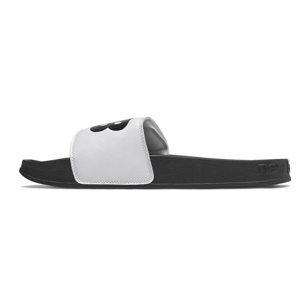 New Balance 男女款白色大LOGO可調式拖鞋-NO.SMA200W1