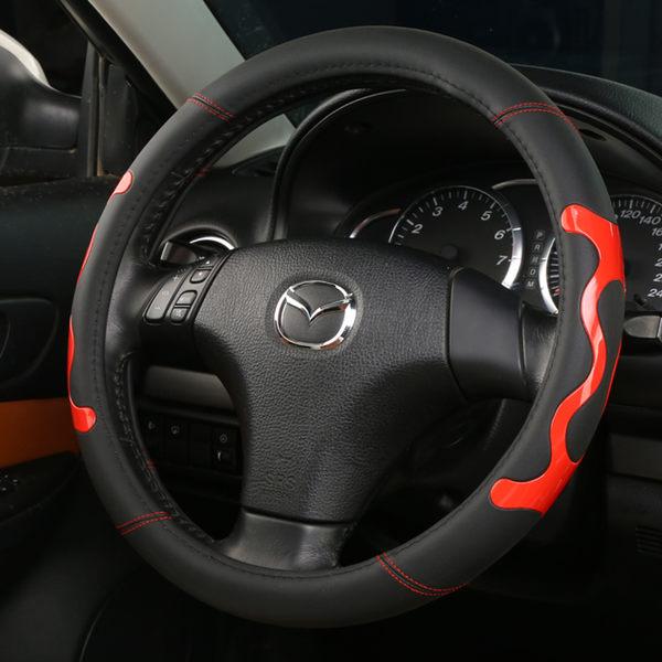 方向盤套 馬自達昂科塞拉CX-4 阿特茲CX-5 馬六睿翼汽車皮質四季方向盤【免運】