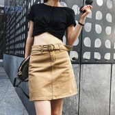 杉唯美2019夏新款韓版氣質牛仔短裙女修身牛仔包臀裙一步裙A字裙
