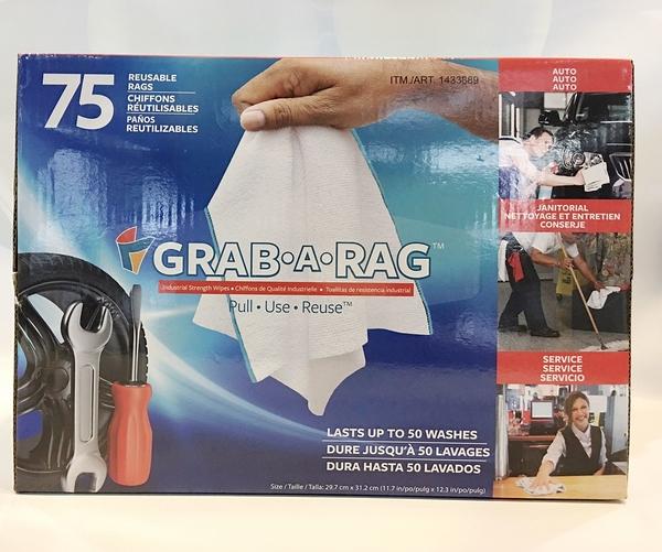 【75條】GRAB-A-RAG 拋棄式抽取式超細纖維擦拭布 (每盒75抽) 拋棄式 抽取式 超細纖維 擦拭布
