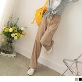 純色不易皺修身腰鬆緊口袋寬長褲 OB嚴選《BA6076-》