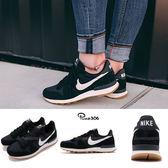 Nike 休閒鞋 Wmns Internationalis 黑 白 膠底 基本款 運動鞋 女鞋 【PUMP306】 828407-021