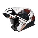 【東門城】ASTONE RT1000 AB15(白/咖啡) 可掀式安全帽 雙鏡片