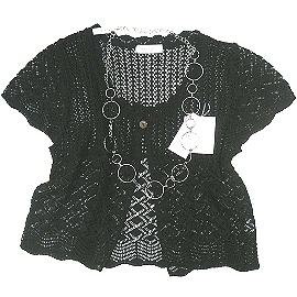 【波克貓哈日網】日本製針織衫◇Brilliant◇《黑色》圓領春夏罩衫