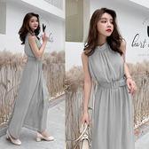 【GZ3B2】雪紡連身裙洋裝夏季新款韓版女修身顯瘦長款無袖長裙沙灘裙F5898