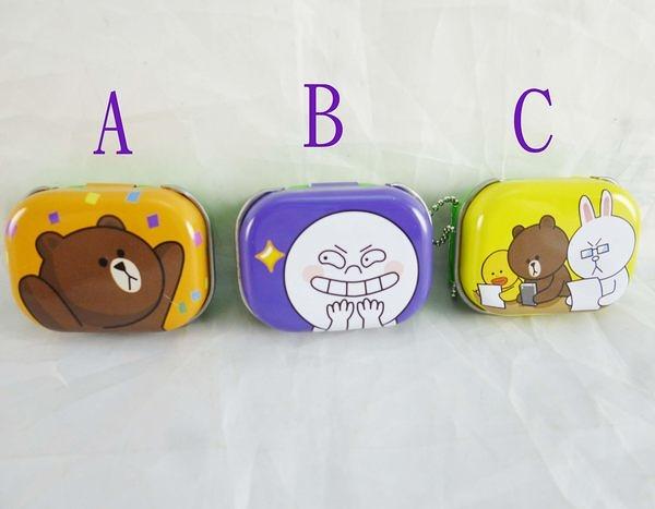 【震撼精品百貨】LINE FRIENDS_兔兔、熊大~鐵盒附貼紙-熊大/竊笑/讀書【共3款】