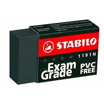 【72顆批發】STABILO 德國天鵝牌 Exam Grade PVC FREE 黑色無毒環保橡皮擦(小) 型號:1191N