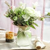 雙十一返場促銷花瓶瓶瓶安安玻璃台式花瓶歐式彩色花瓶水培干花客廳臥室擺件裝飾品