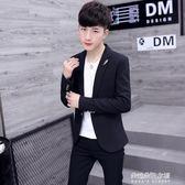 休閒西服男士韓版修身上衣服青年帥氣小西裝潮流男裝外套  朵拉朵衣櫥