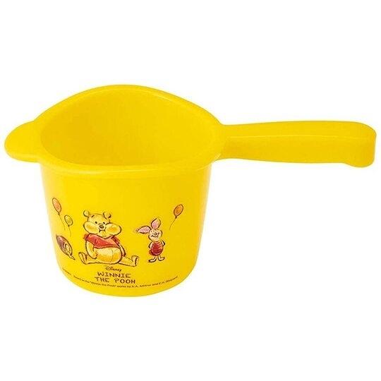 小禮堂 迪士尼 小熊維尼 塑膠水瓢 小水瓢 舀水器 水勺 500ml (黃 汽球) 4973307-48728