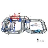 軌道玩具小火車寶寶軌道車玩具男女孩兒童電動賽車過山汽車3-4-5-歲XW 快速出貨