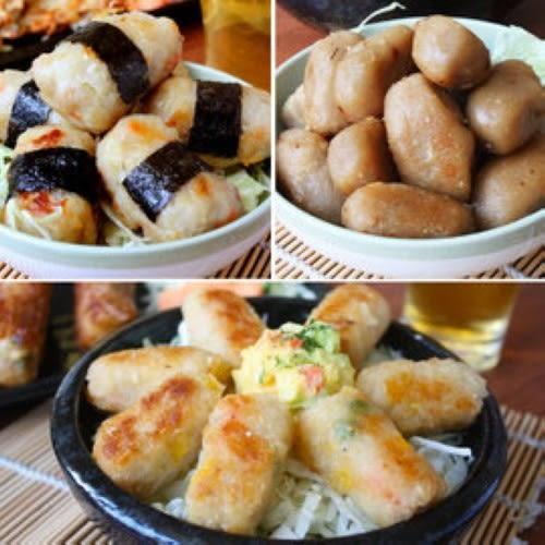 金山人氣第一名【阿郎甜不辣】點心炸物三入組(海苔丸+芋頭酥+杏仁蝦酥)