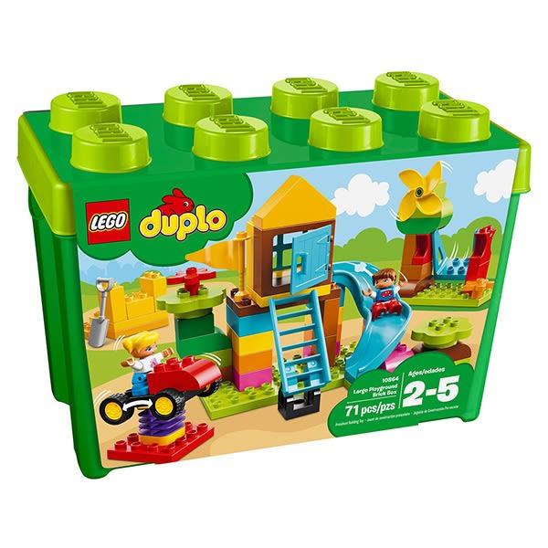 【愛吾兒】LEGO 樂高 得寶系列 10864 大型遊樂場顆粒桶